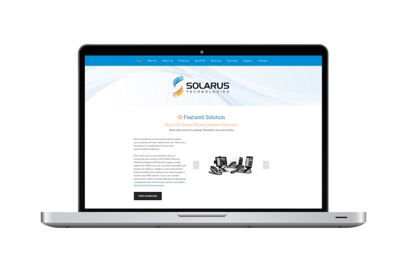 Squarespace Website Design Project for Solarus Technologies