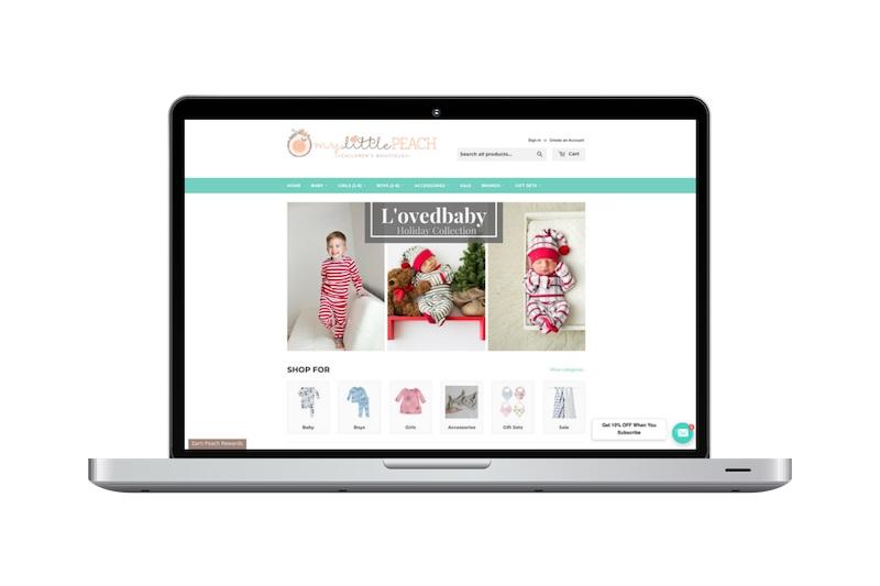 Shopify Website Design Project - My Little Peach Children's Boutique