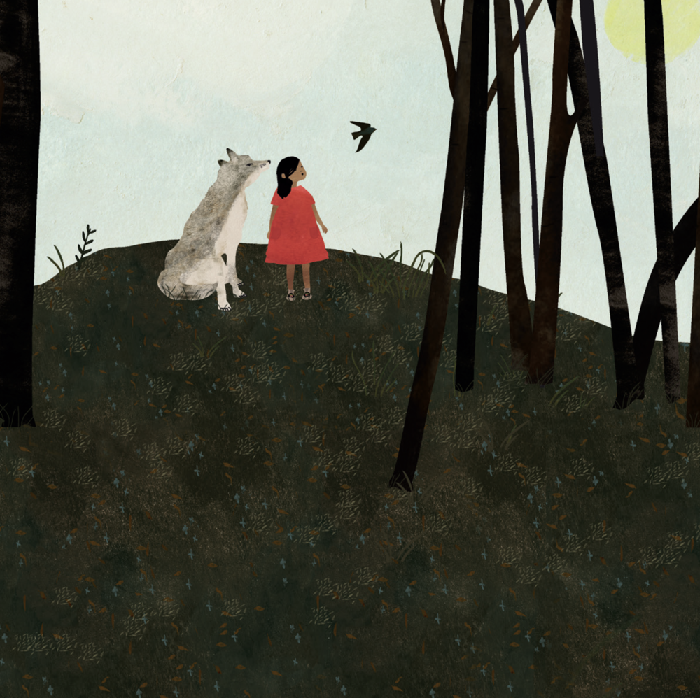 The Girl and the Wolf, words by Katherena Vermette, Theytus Books