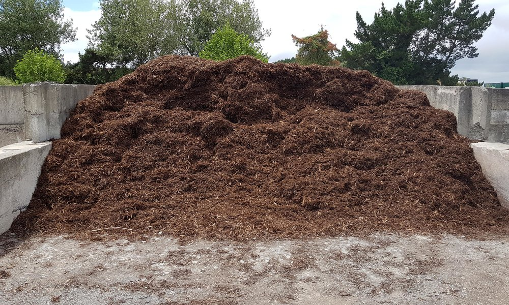 One of our bay's full of  Bark Mulch .