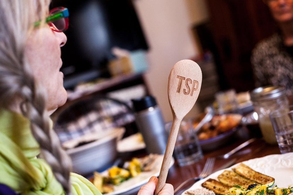 """The Talking Spoon (or """"TSP"""") ensures there's only one conversation going around the table at a time."""