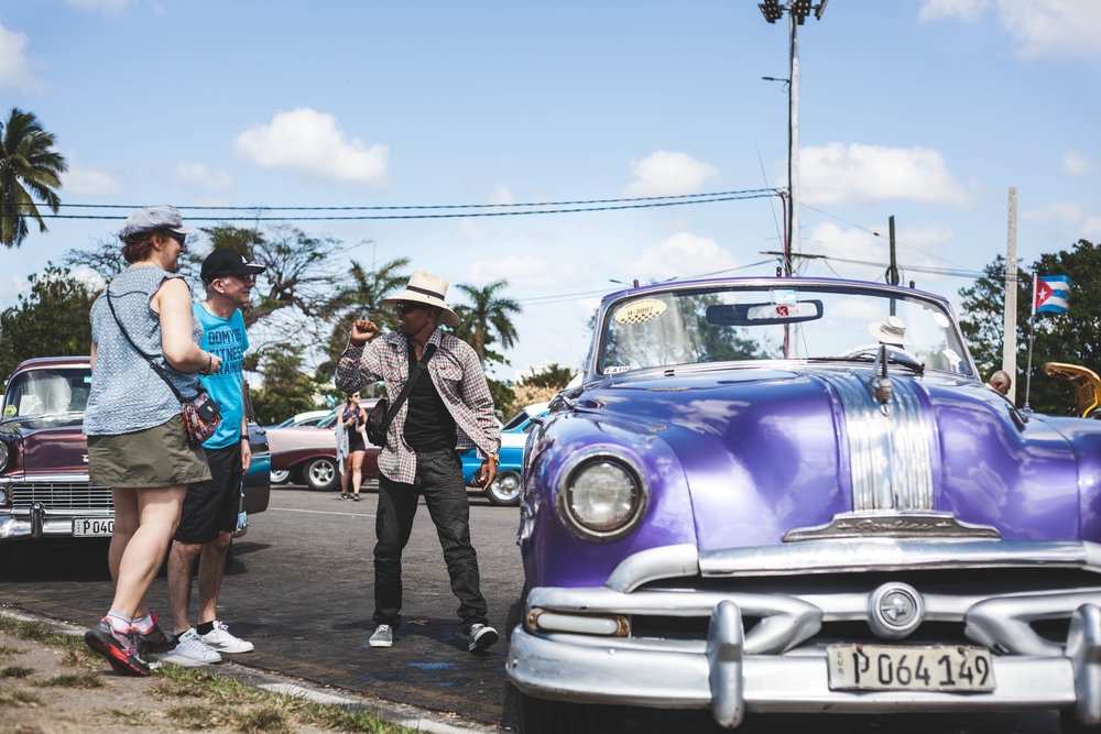 Vintage cars in Cuba remain a popular attraction for tourists. As a result of the embargo, Cubans have had to used their creativity and ingenuity to keep these cars running on the road.