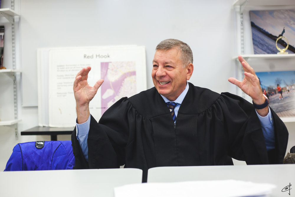 Outside the courtroom, Judge Calabrese speaks with the same swiftness with which he handles cases.
