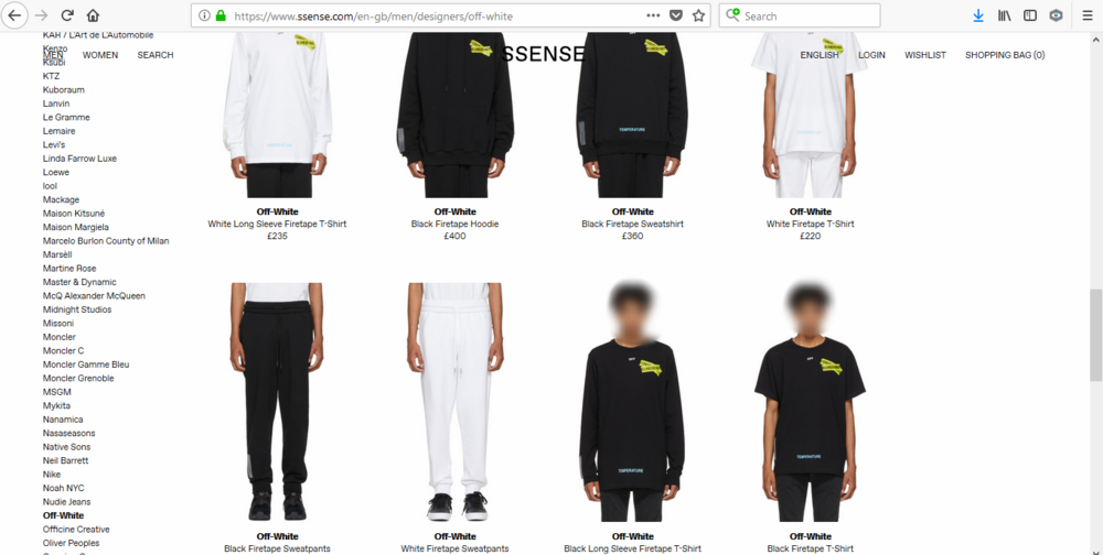 *SSENSE Off-White Page*