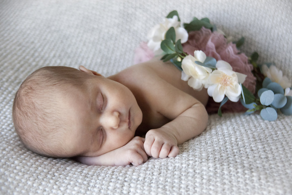 Baby Girl Newborn Photography by Courtney Sample Photography