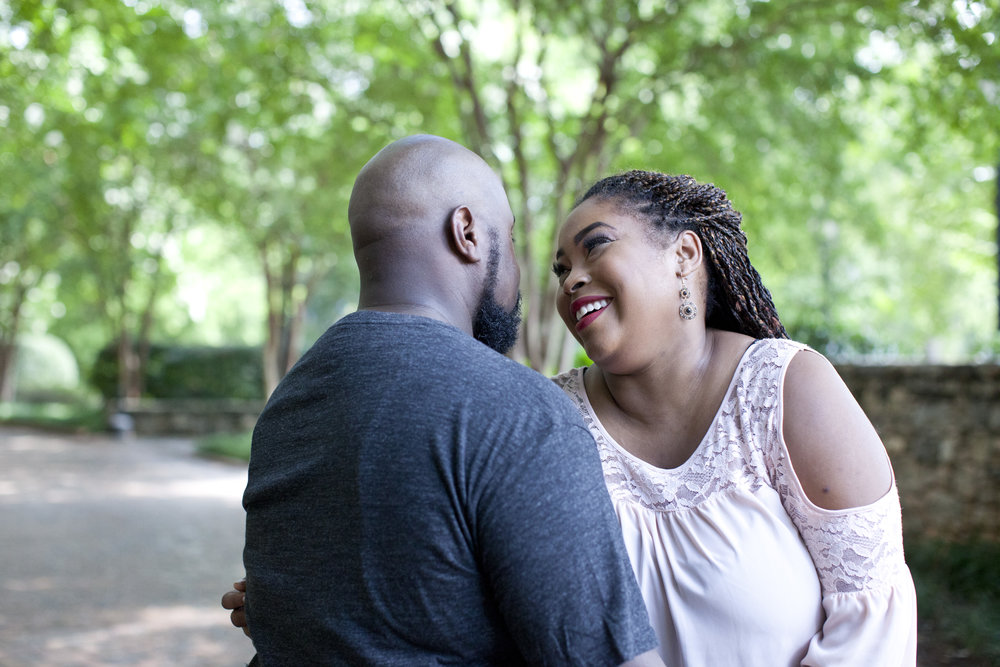 Falls Park in Greenville South Carolina Engagement Photography Session by Courtney Sample Photography