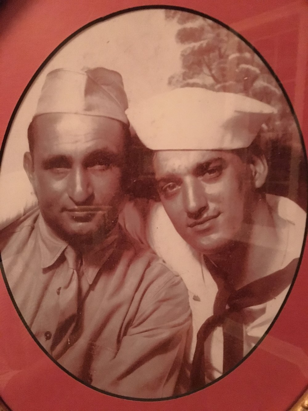 Tony and his brother Joe during WWII