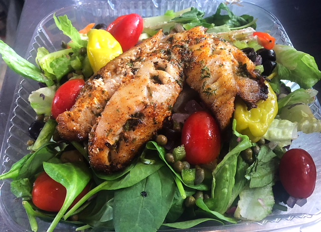 Cajun Seasoned Grouper Salad