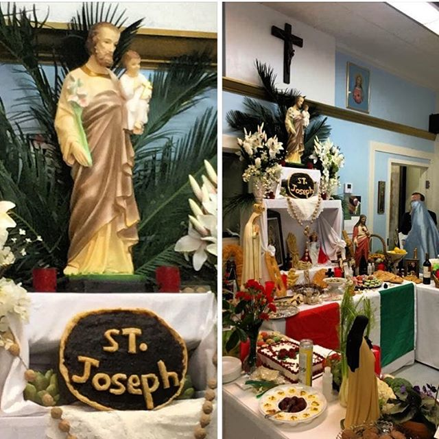 Happy Feast Day of St. Joseph! Celebrating St. Joseph with an altar of Sicilian breads, cookies, cakes and most importantly blessed Fava Beans  are part of the rich Sicilian tradition I remember as a child at our local Italian club (Amerita Club) back home in Alexandria, La. Join us at Ticheli's tonight for live music and hot wood fired pizza!! We are open at 5pm! 🍕🍕 #StJosephprayforus