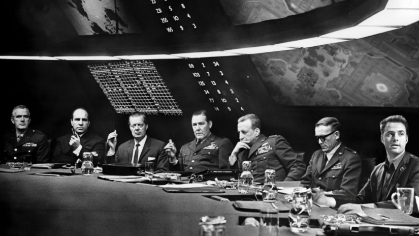 #5) Dr. Strangelove or: How I Learned to Stop Worrying and Love the Bomb - (1964 - dir. Stanley Kubrick)