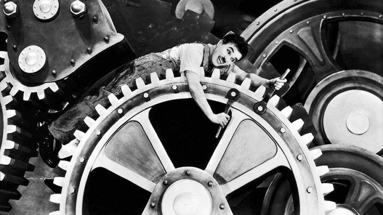 #7) Modern Times - (1936 - dir. Charlie Chaplin)