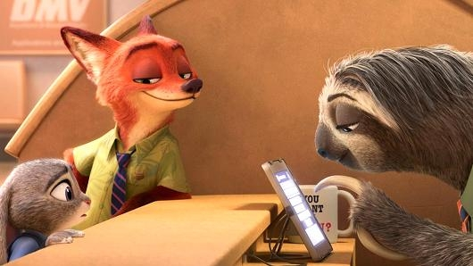 #74) Zootopia - (2016 - dir. Byron Howard, Rich Moore and Clark Spencer)