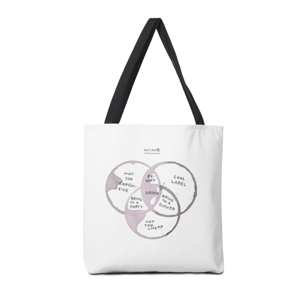 wine venn tote - it holds the wine you decide to bring