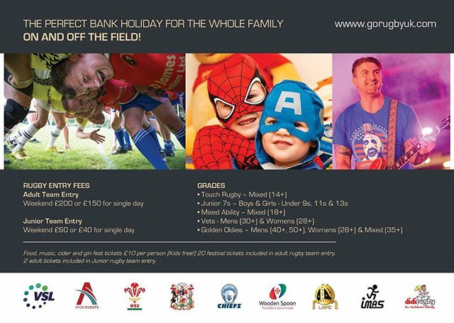 Just 6 weeks till our Rugby For All festival in Cardiff! #rugbyforall