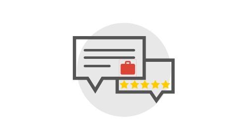 """Clientes podrán evaluar sus servicios y dejar un """"review"""" en tu página. A demás, usted podrá publicar puestos de trabajos para que los usuarios apliquen."""