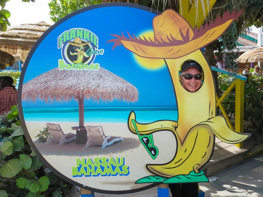 Banana caramel lady at Frankie Gone Bananas at the Fry Fish on Junkanoo Beach.