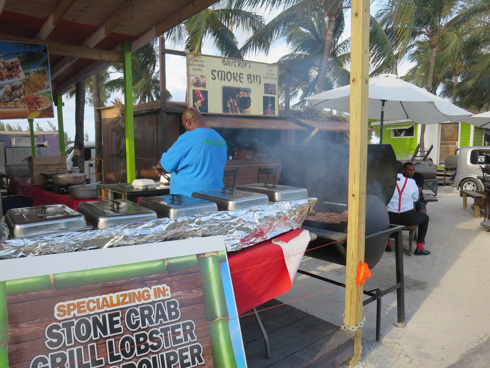 Enjoyed talking shop with local vendors! Amazing BBQ pork and jerk chicken.