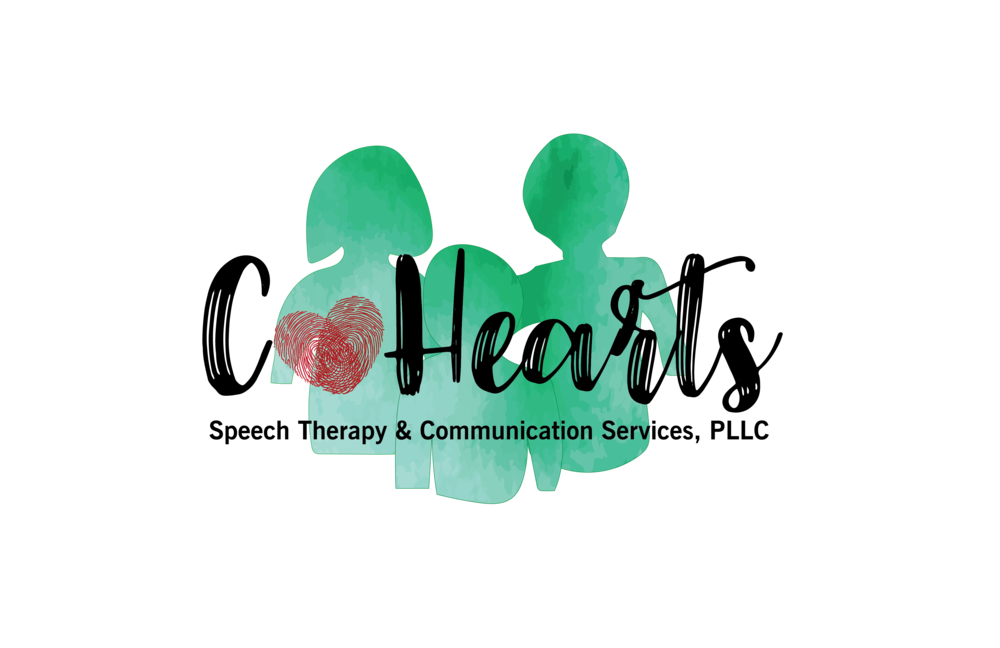 Why the name CoHearts? - CoHearts Speech Therapy & Communication Services, PLLC, has a simple foundation. Its genesis is from the word cohort. In ancient times it meant a group of warriors or soldiers; a group or company of people banded together who share a characteristic.The name CoHearts is also symbolized by the placing together of two overlapping thumbprints, perfectly imprinting a heart. It encapsulates the unity of vision and solidarity that is the driving force behind our organization. We're a community of helpers led by our heart's passion to support the 'least of these.'  We're banded together to see them excel!We put our hearts into communicating!