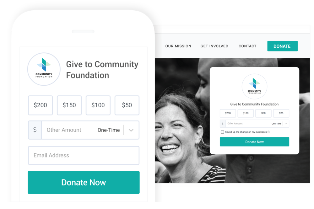 Optimized For All Devices - Collect donations anywhere with sleek forms that are optimized for a phone, tablet or desktop.