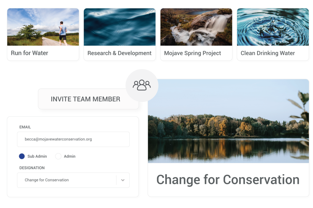 Collaborate or Divide and Conquer - Collaborate with team members by inviting multiple administrators. Grant restricted access to sub-administrators for specific funds, campaigns and affiliate dashboards.