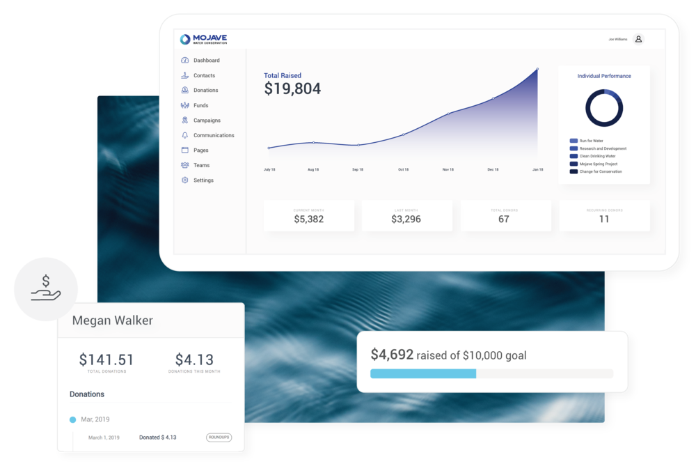 Donor CRM - All the tools you need for smarter, streamlined donor data management.