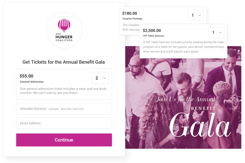 Sell Online Tickets for Your Events - Create multiple ticket types and customize each with a name, description and price.