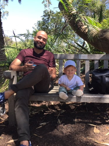 The San Diego Botanic Garden in Encinitas, California is a great place to visit with babies and toddlers, and includes a kid's play area to climb and explore.