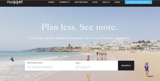 Nugget  compiles travel itineraries from parents, for parents - including great itineraries for baby and toddler travel
