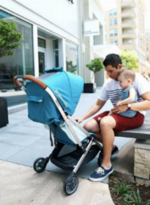 The UPPAbaby Minu is lightweight and compact, though still comfortable for child and parent - making it an appealing travel stroller. Image Credit:  Dad Verb
