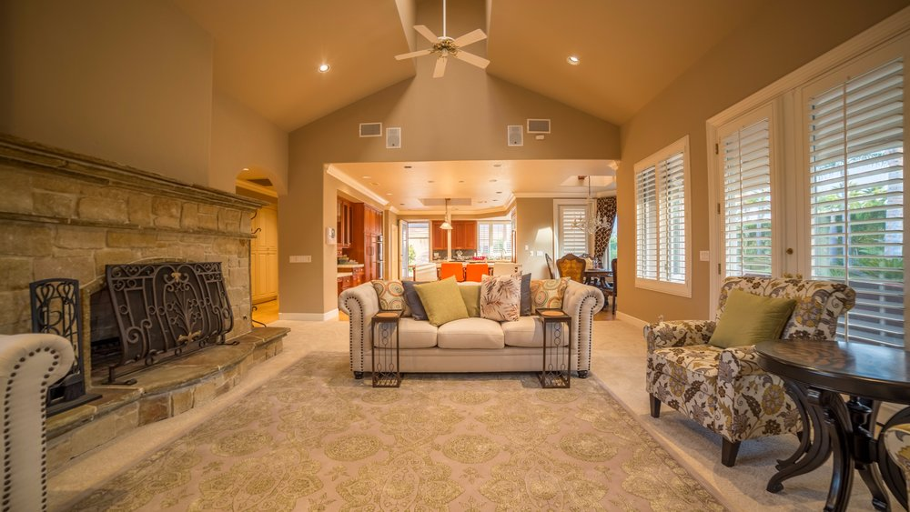 Real Estate Photography of Living Room