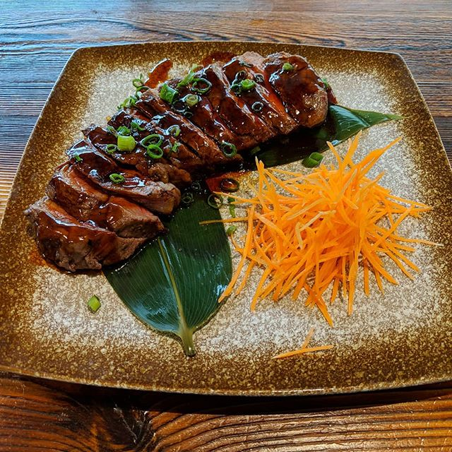 Come grab the teriyaki steak for $16 this weekend! Show this ad to get a discount 😋