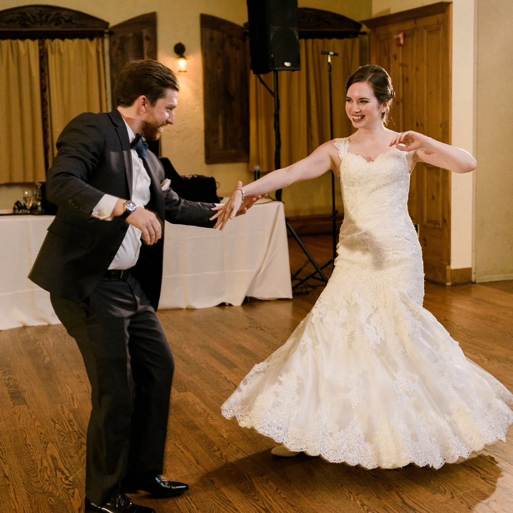 Photo by    Keren Sarai Photography    featuring Duet's students, Anne and Steve, during their first dance.
