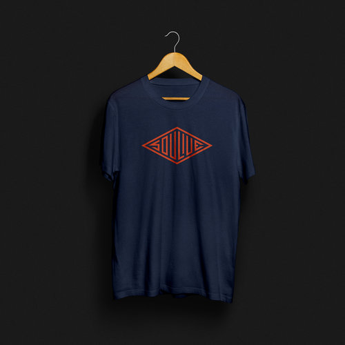 Soulive Logo Navy Orange T Shirt
