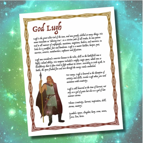God Lugh - Get this page in our Lammas Issue of Witchology Magazine