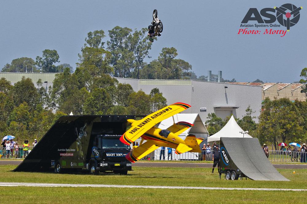 FMX Bike Jump Over Plane Stunt