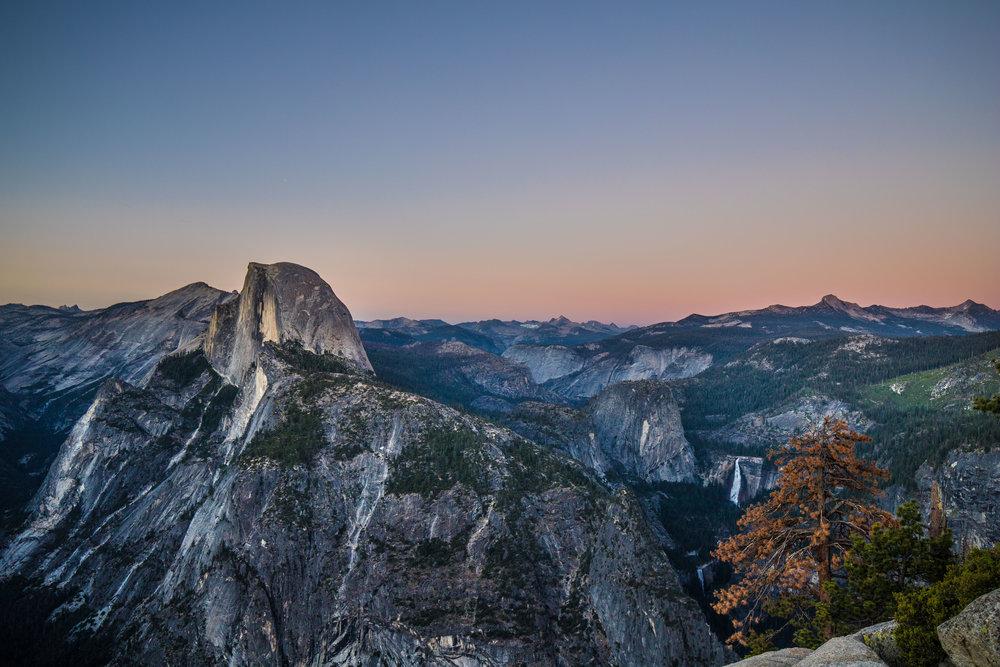 Sunset at Yosemite National Park