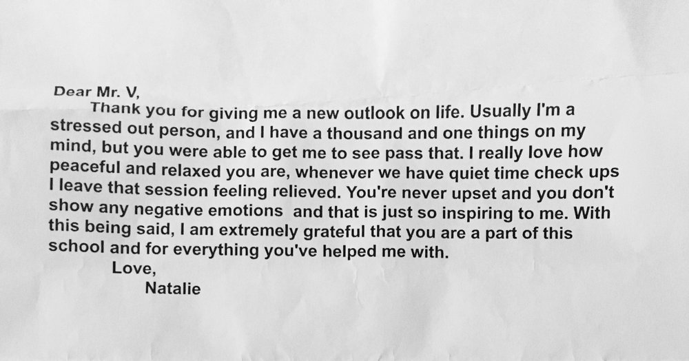 Note from a High School Student