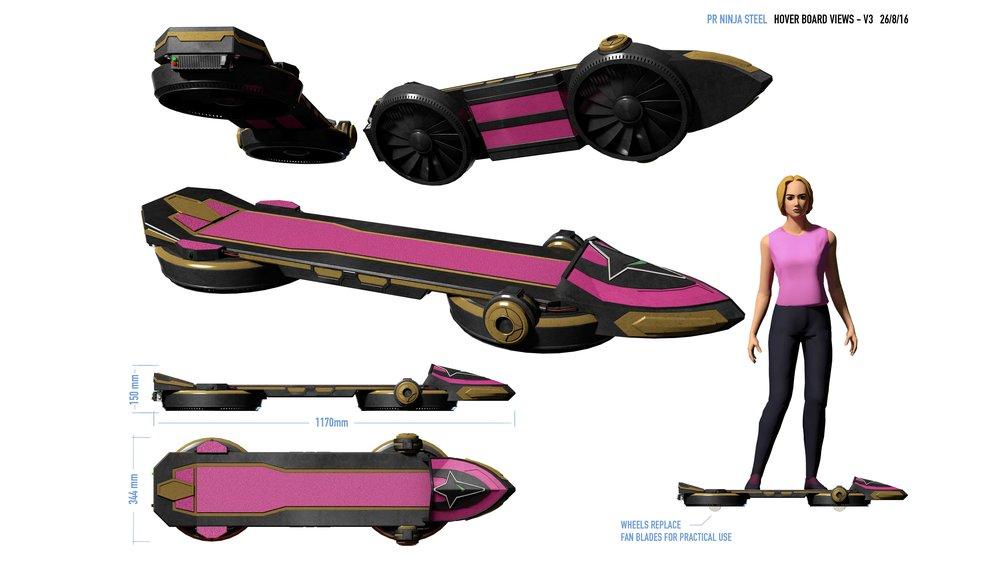 Sarah's Hoverboard design