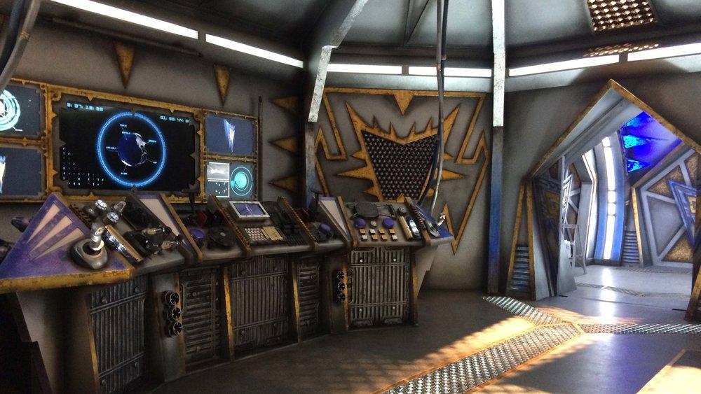 Warrior Dome Control Room set