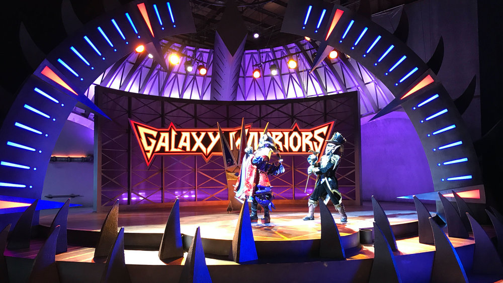 Warrior Dome Stage set
