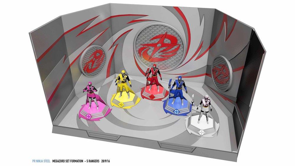 Ninja Steel Megazord set - Concept Art