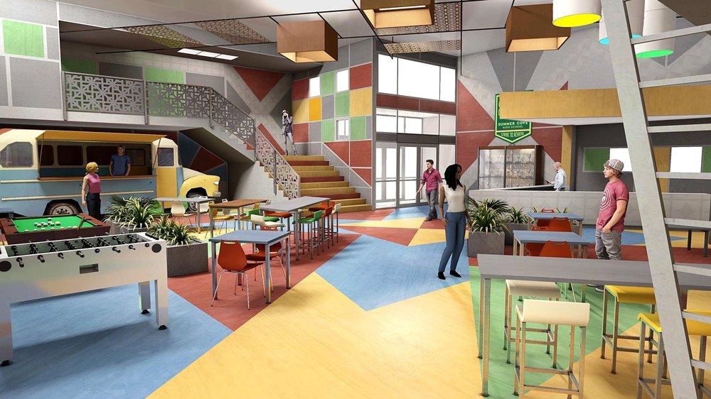 Ninja Steel - School Rec Area - Concept Art