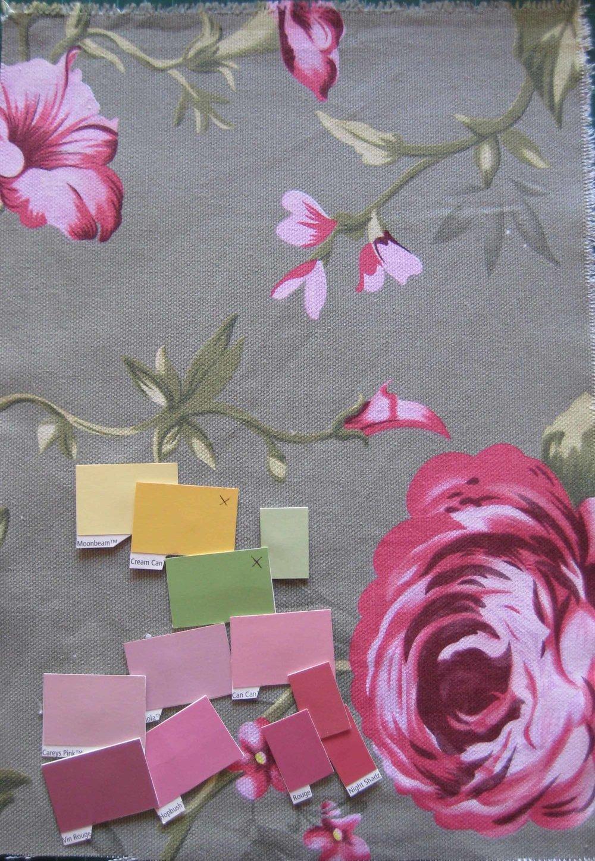 Flora's Bedroom colour palette