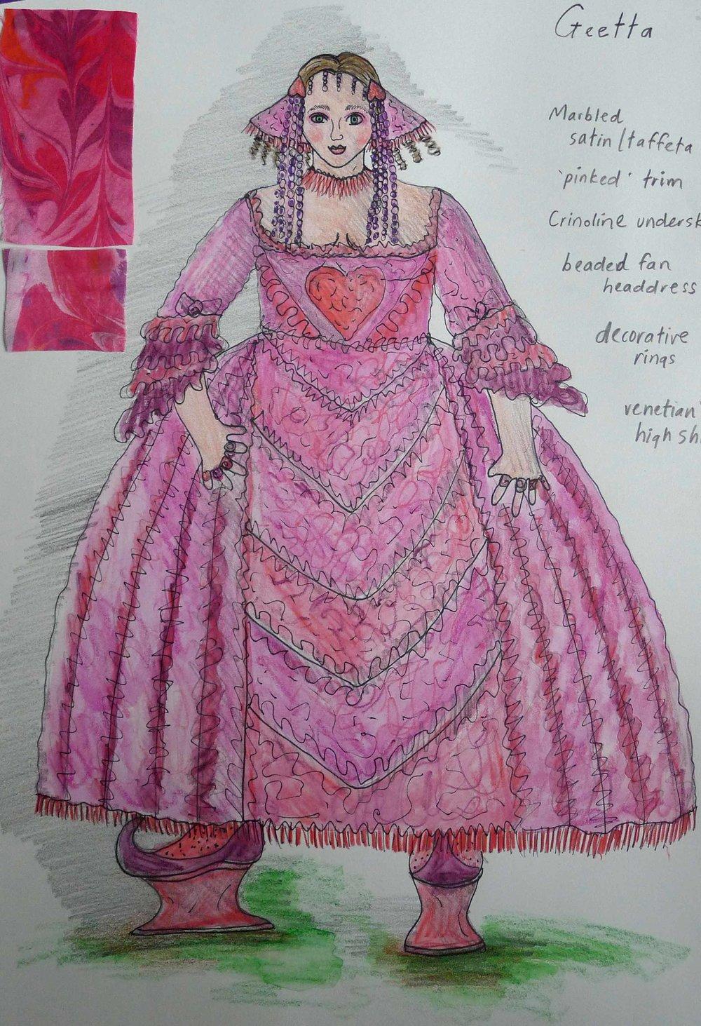 Geetta costume drawing