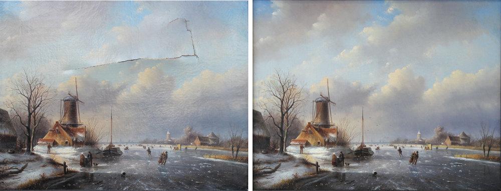 restauration de peinture et tableau