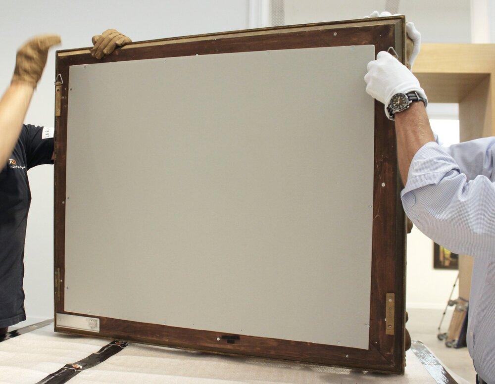 Manipulation d'oeuvres d'art / Art handling