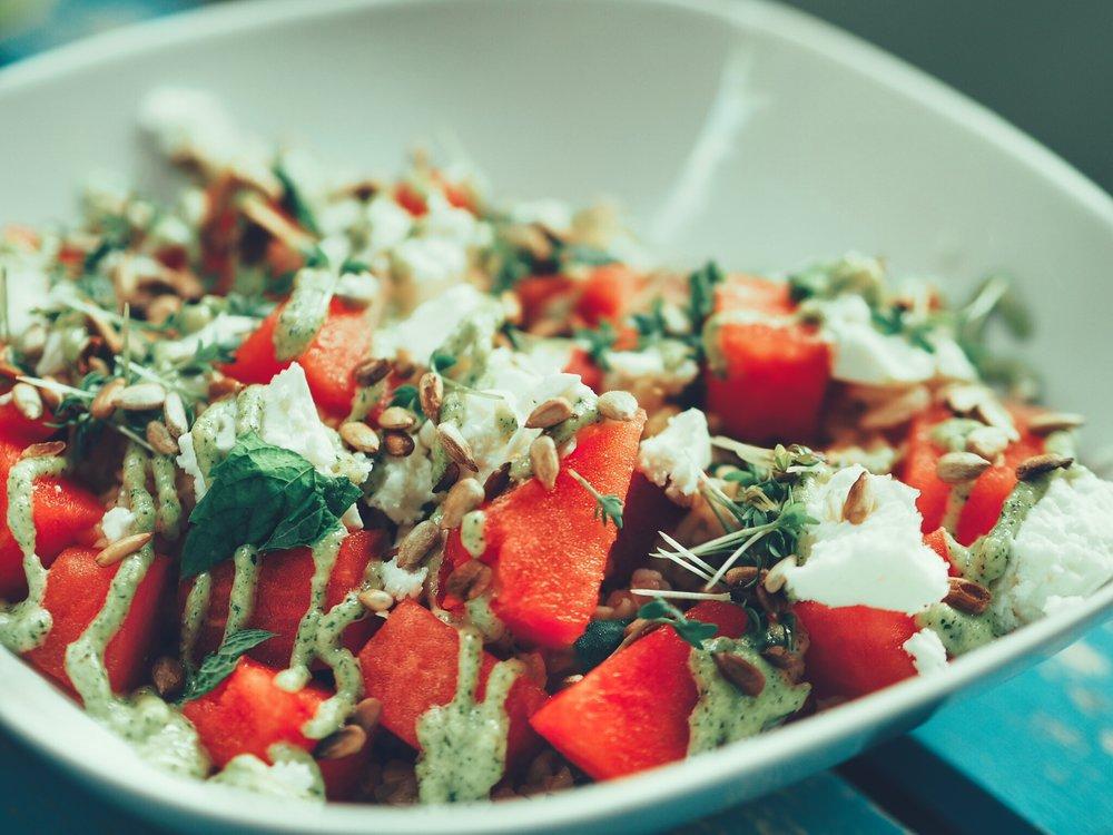 Bulgursalat mit Wassermelone