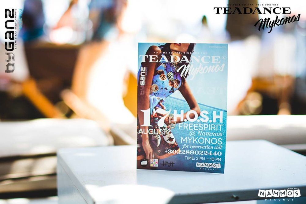 Tea Dance HOSH  Mykonos byganz 2014