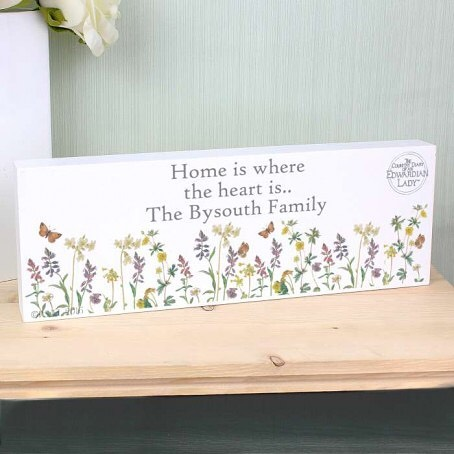🌷Personalise this Mantel Block with 3 lines of text up to 20 characters per line. All personalisation is case sensitive and will appear as entered.🌷 Ideal for placing on a mantelpiece
