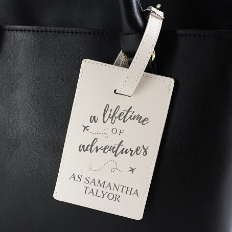 ✈️🌎Our 'Lifetime of Advertures' luggage tag is the perfect present for a regular jetsetter to ensure their luggage is never lost.This luggage tag fastens with a secure buckle and is ideal for attaching to the handle of a suitcase, rucksack or handbag. The tag also features a discreet indentification window.  The material of this luggage tag is leather. #travel #luggage #explore #security #insideparadisenantwich #cheshire #nantwich